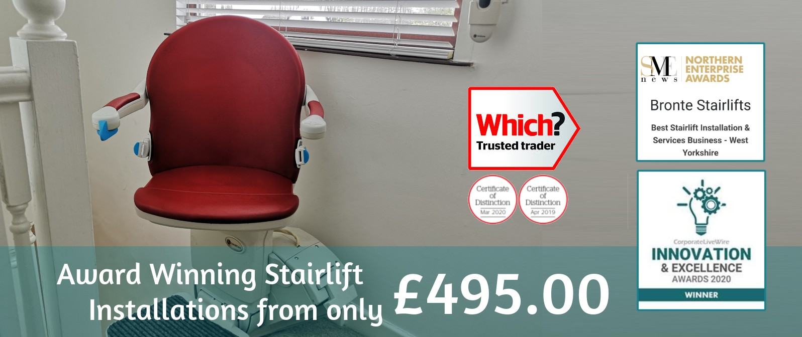 Award winning stairlifts from only £495